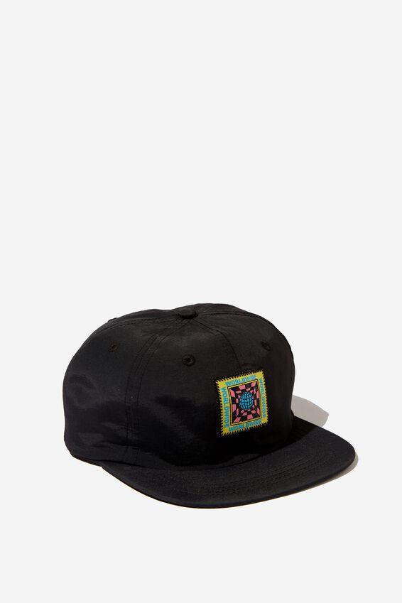 6 Panel Hat, BLACK/WORLDWIDE INSIGHT