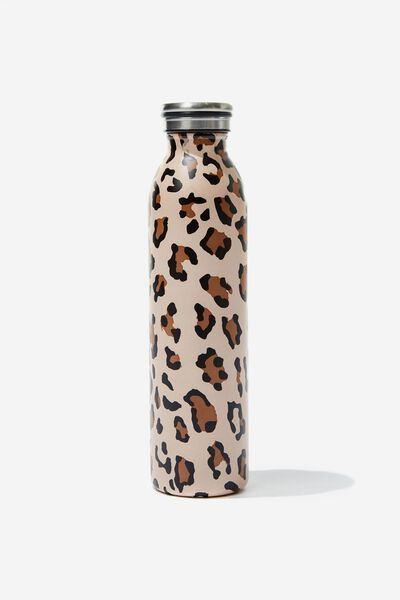 Transit Metal Drink Bottle, LEOPARD PRINT