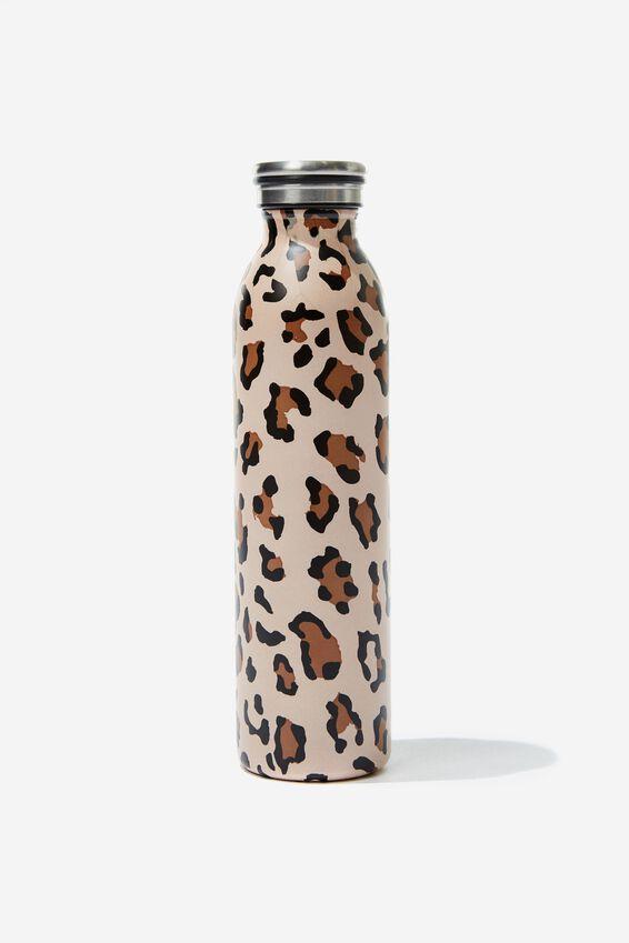 Transit Metal Drink Bottle, LEOPARD PRINT