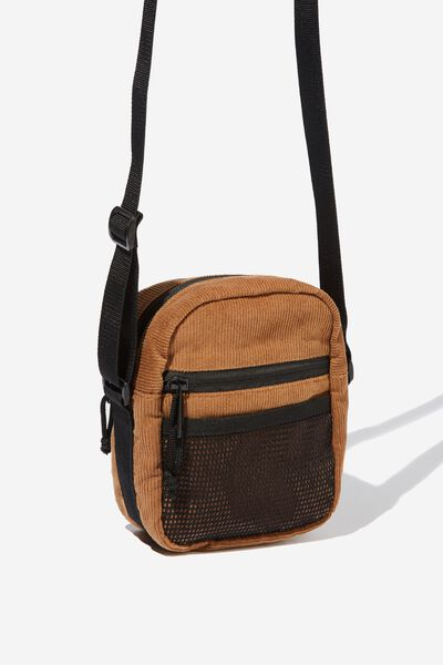 Crossbody Pouch, BROWN CORDUROY