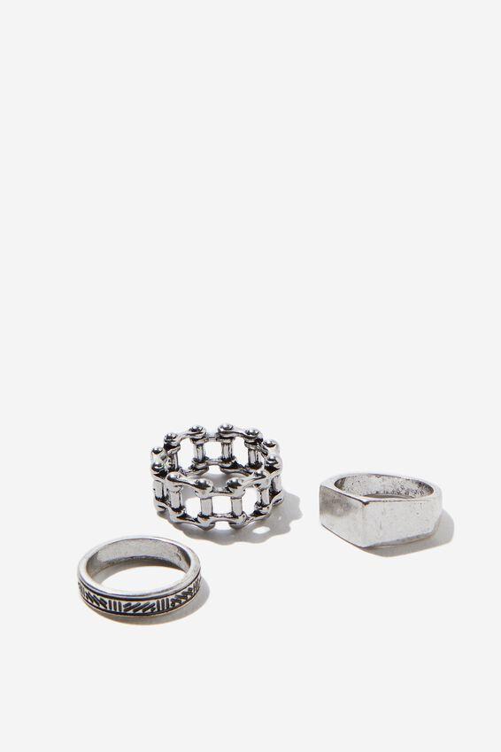 Rings 3 Pack, SILVER 3
