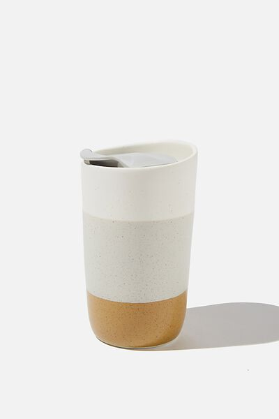 Ceramic Tumbler, NATURAL WHITE