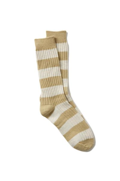 Single Pack Active Socks, TAUPE STRIPE