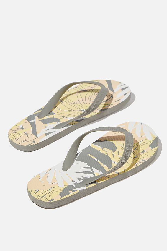 Bondi Flip Flop, YELLOW/PALM COLLAGE