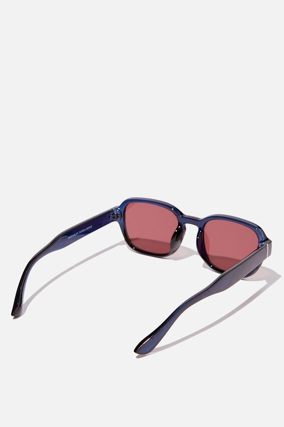 Breamlea Sunglasses, BLUE/RED
