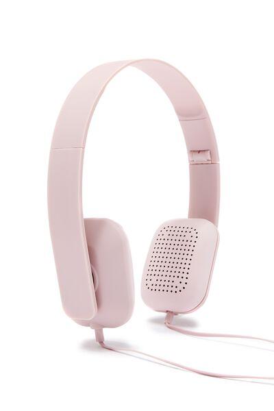 Classic Headphone, PLUSH PINK