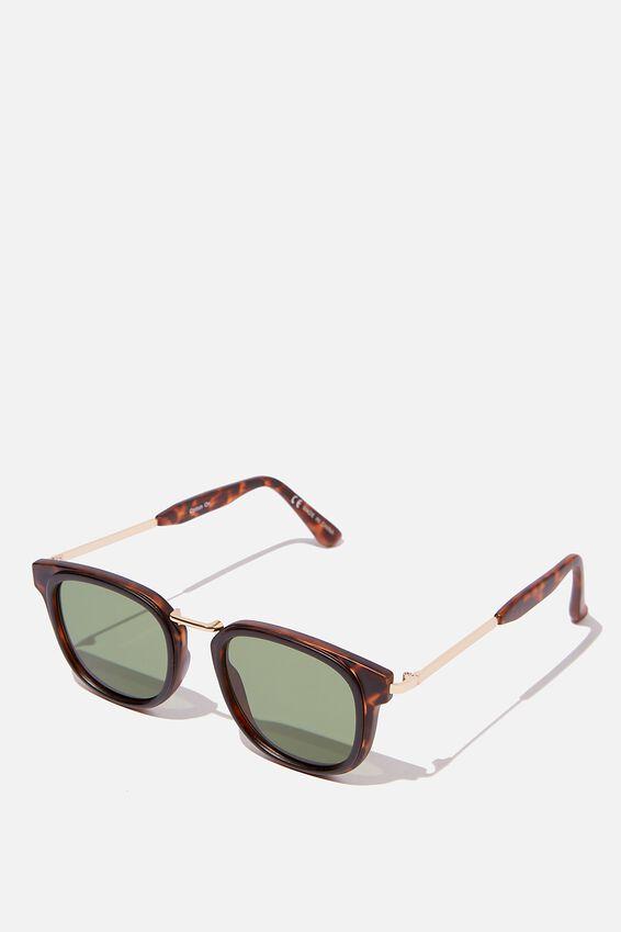 Highton Sunglasses, TORT/GOLD/GREEN