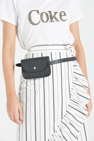 Cassidy Belt Bag, BLACK