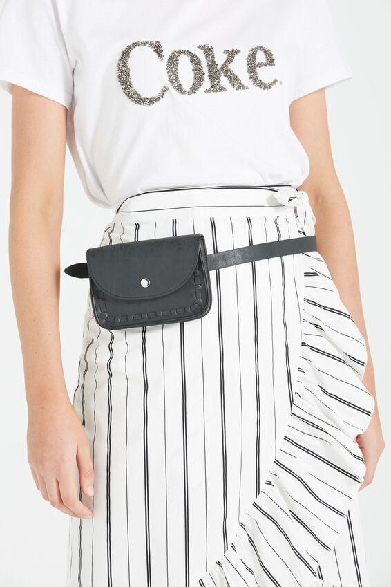 Cassidy Belt Bag, BLACK