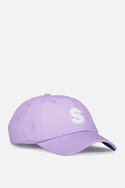 Strap Back Dad Hat, LAVENDER/S PATCH