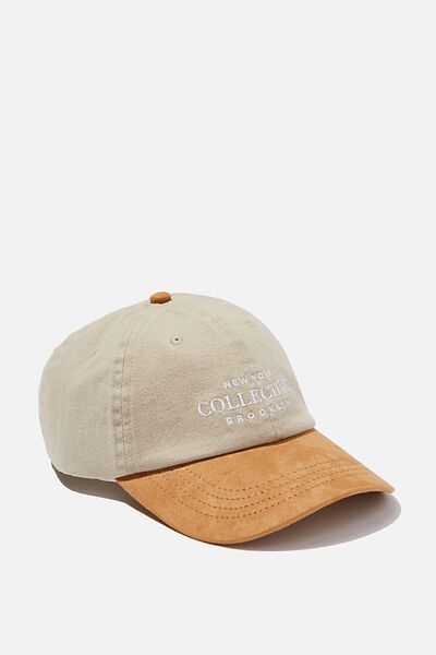 Strap Back Dad Hat, TAN/NY COLLECTIVE