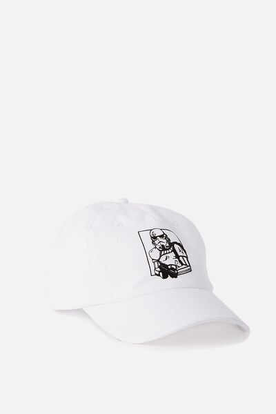 Special Edition Dad Hat, TROOPER NYC/WHITE