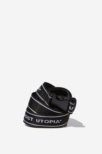 Portland Web Belt, BLACK/POST UTOPIA