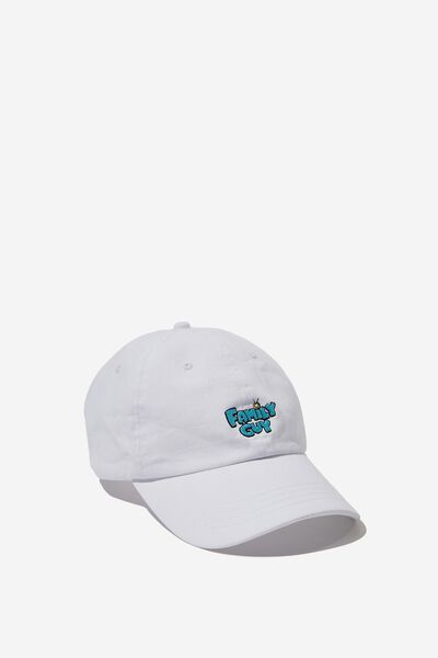 Strap Back Dad Hat, LC FOX WHITE/FAMILY GUY