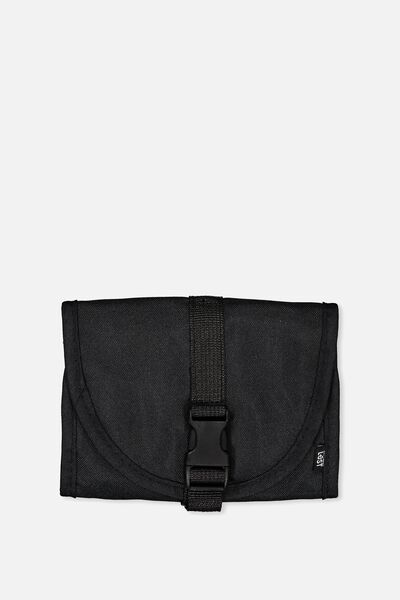 Compact Wash Bag, BLACK