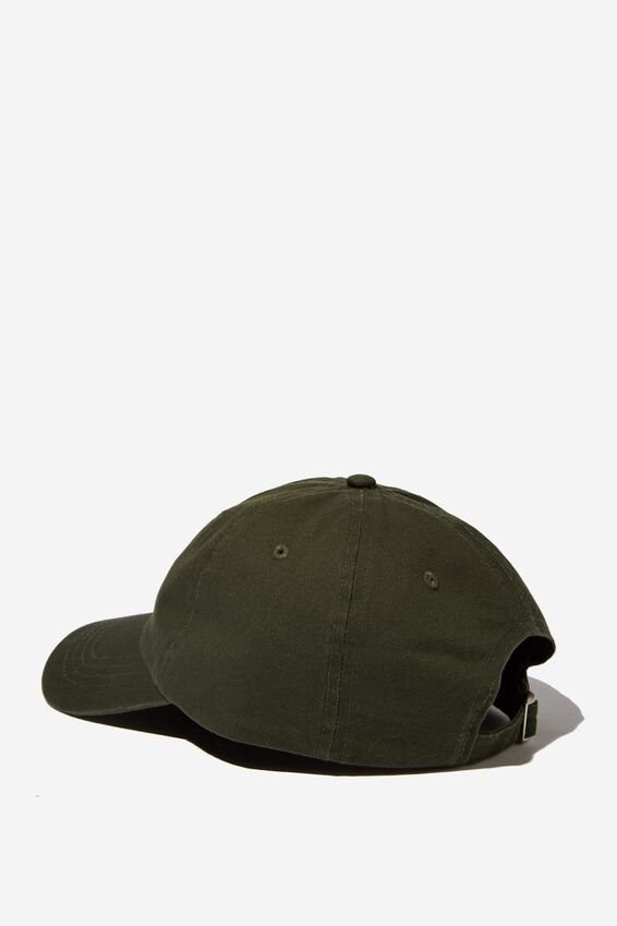 Strap Back Dad Hat, FOREST GREEN/GOODTIMES