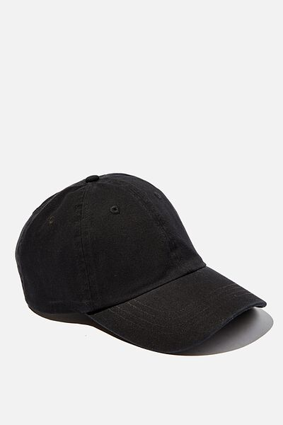Blank Dad Hat, BLACK
