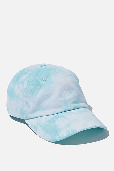 Strap Back Dad Hat, AQUA TIE DYE
