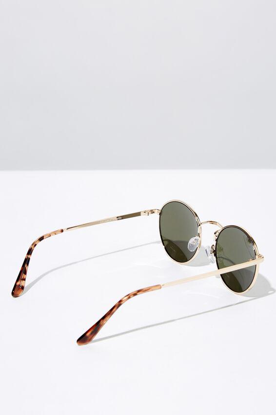 Columbus Sunglasses, GOLD/GREEN MONO