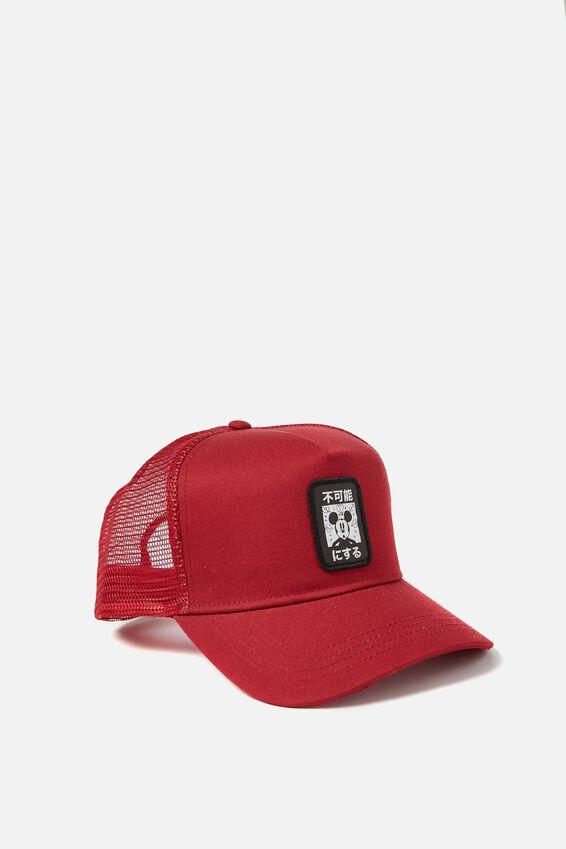 Mickey Trucker Hat, RED/MICKEY PATCH