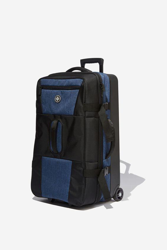 Lrg Soft Suitcase, BLACK/NAVY