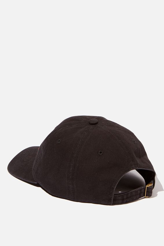6 Panel Hat, BLACK/RED/HEAVY TIMES
