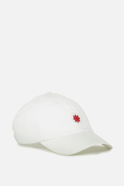 Strap Back Dad Hat, RED HOT CHILLI PEPPERS WHITE