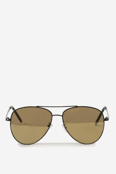 Simpson Sunglasses, MATTE BLACK/GOLD FLAT