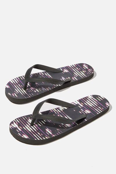 Bondi Flip Flop, BLACK/MULTI GLITCH