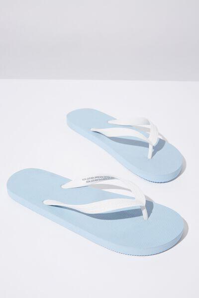 Bondi Flip Flop, LIGHT BLUE/WHITE