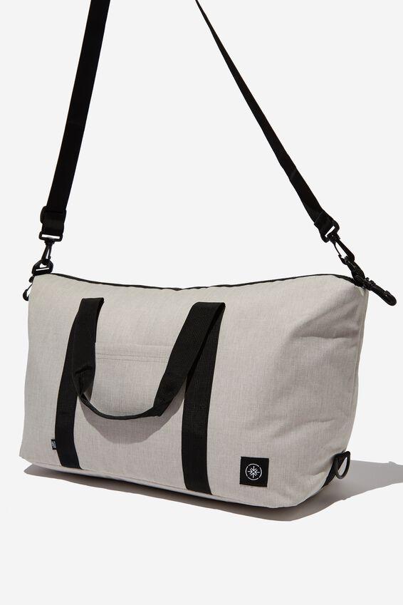 Transit Duffle Bag, OATMEAL CROSSHATCH