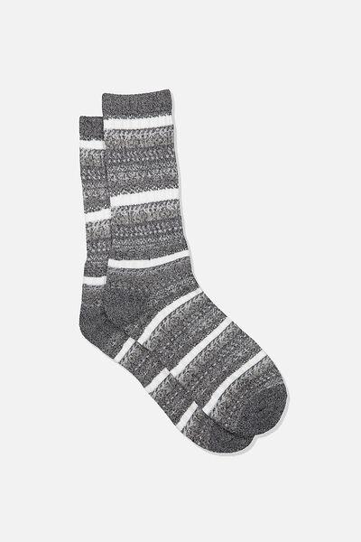 Single Pack Active Socks, BLACK/GREY/FAIRISLE