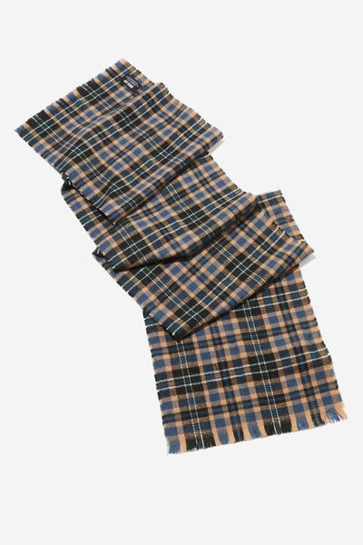 Chill Out Scarf, NAVY/TAN/GREEN PLAID