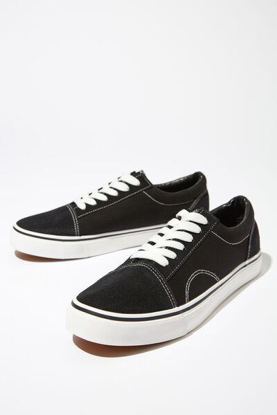 Axell Skate Shoe, BLACK/WHITE