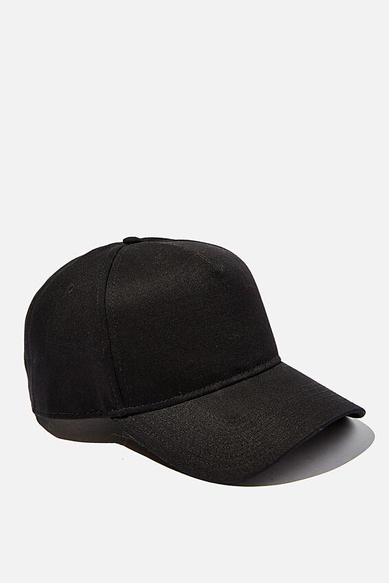 Blank Snapback, BLACK