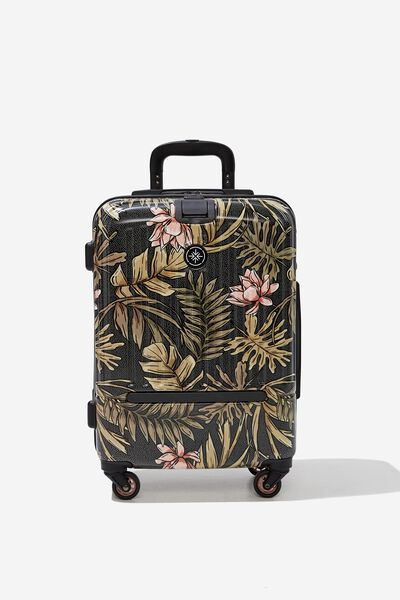 Sml 19Inch Hard Suitcase, LOTUS LEAVES