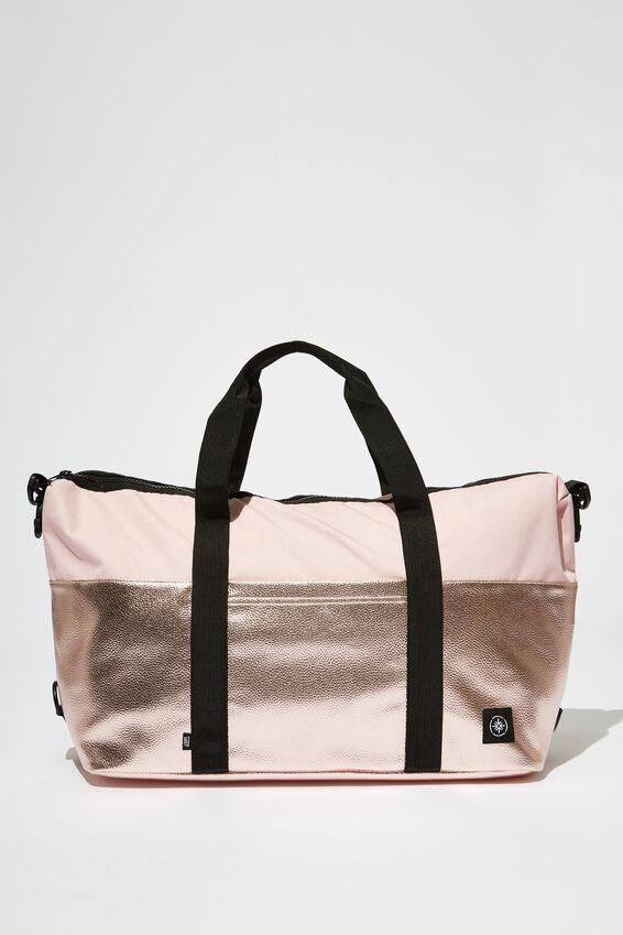 2 Tone Transit Duffle Bag, BLUSH WITH ROSE GOLD