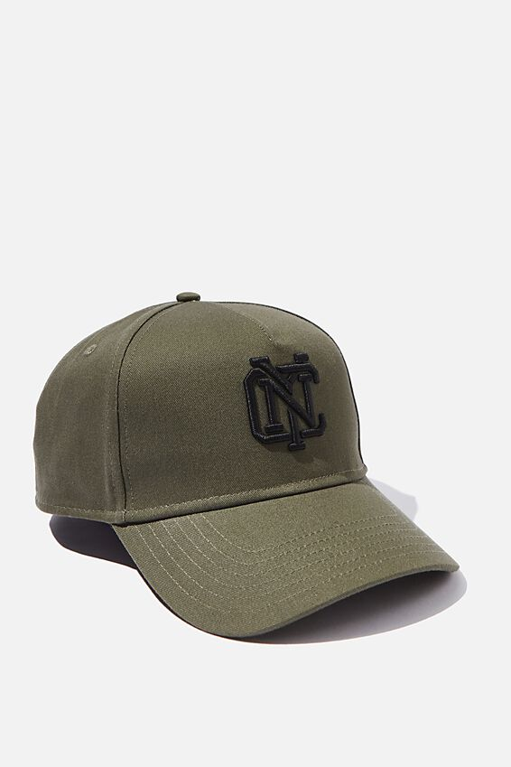 Curved Peak Snapback, KHAKI/BLACK/NYC