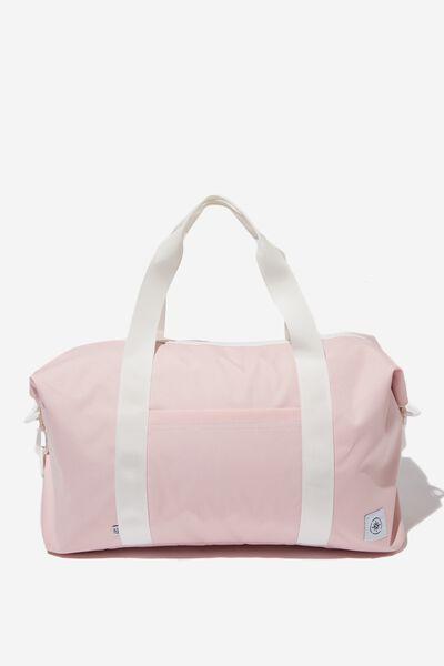 Transit Duffle Bag, BLUSH WITH WHITE