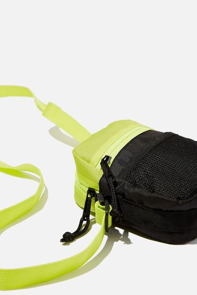 Crossbody Pouch, BLACK/LIME