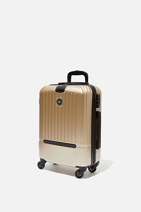 Sml 19Inch Hard Suitcase, GOLD METALLIC