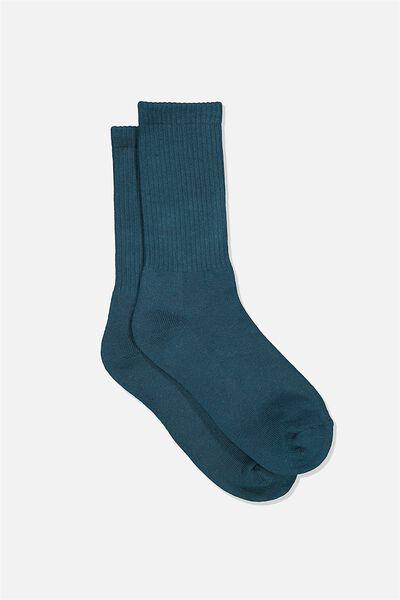 Single Pack Active Socks, TEAL