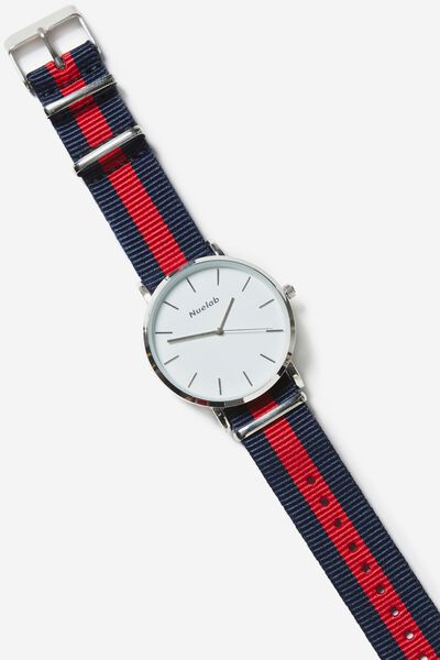 Columbia Watch, WOVEN BLUE /RED