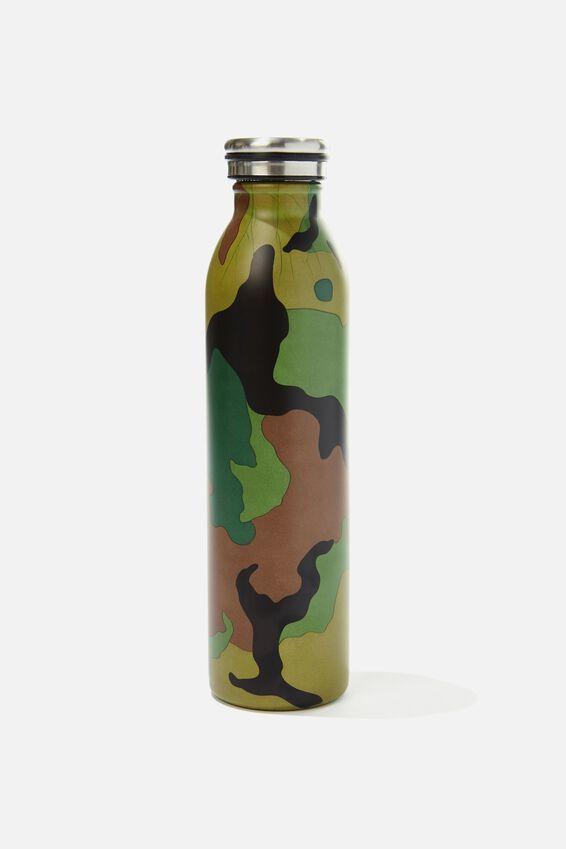 Transit Metal Drink Bottle, WOODLAND CAMO CLASH