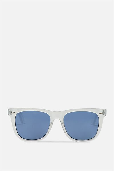 Bueller Sunnies, CLEAR/FLAT BLUE MONO