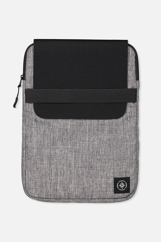 Transit Laptop Case, GREY CROSSHATCH/ BLACK