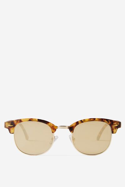 Smooth Operator Sunnies, AMBER TORT/FLAT GOLD