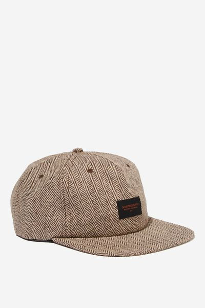 Art Snapback, BROWN HERRINGBONE/GOODTIMES