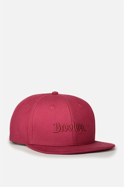 Art Snapback, RED/YE OLDE BROOKLYN