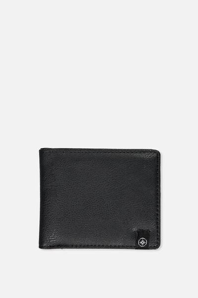 Personalised Mens Flip Wallet, BLACK PU